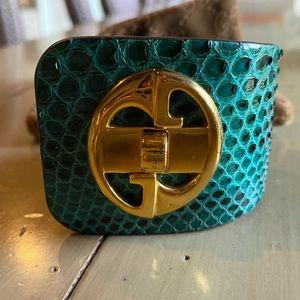 1973 Gucci Python bracelet